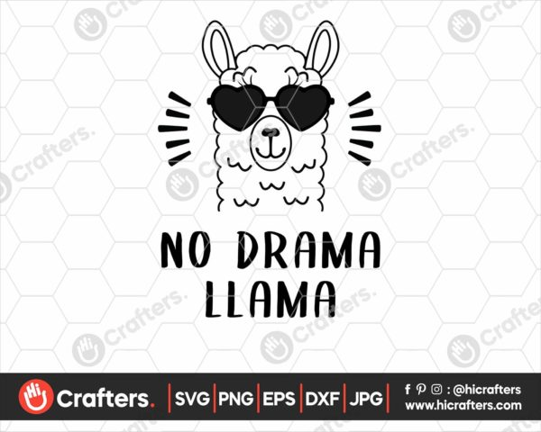 037 No Drama Llama SVG No Drama SVG For Cricut