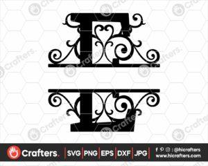 005 Split Monogram SVG E Split letter E SVG