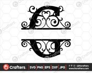 007 Split Monogram SVG G Split letter C SVG