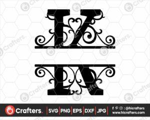 011 Split Monogram SVG K Split letter K SVG
