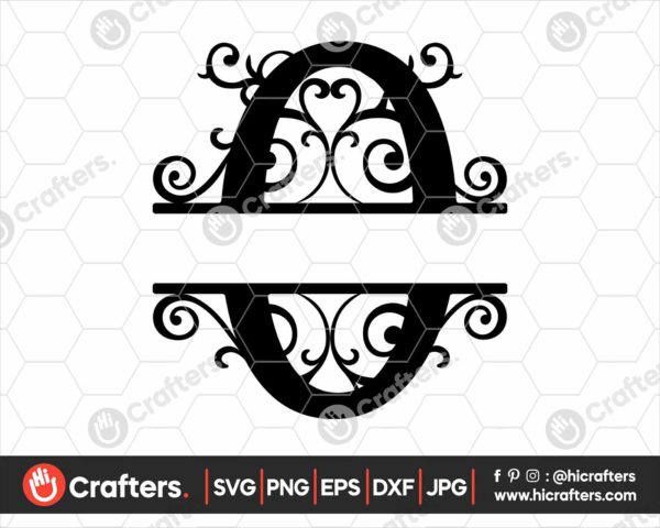 015 Split Monogram SVG O Split letter O SVG