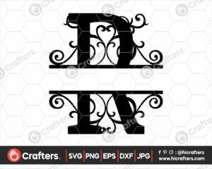 018 Split Monogram SVG R Split letter R SVG