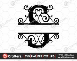 019 Split Monogram SVG S Split letter S SVG