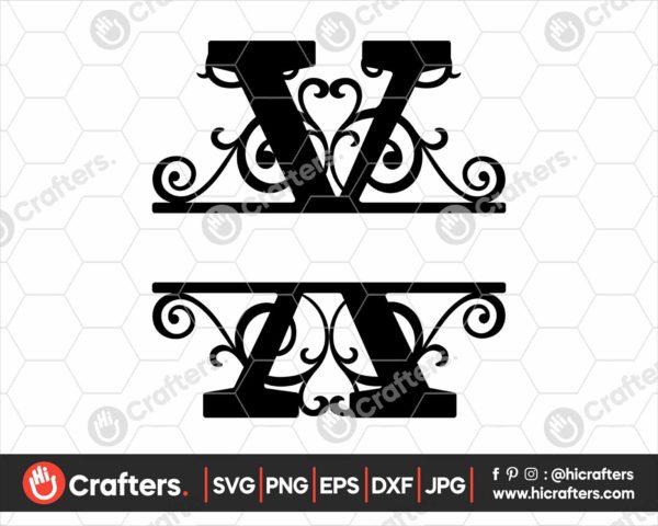 024 Split Monogram SVG X Split letter X SVG