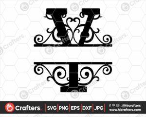 025 Split Monogram SVG Y Split letter Y SVG