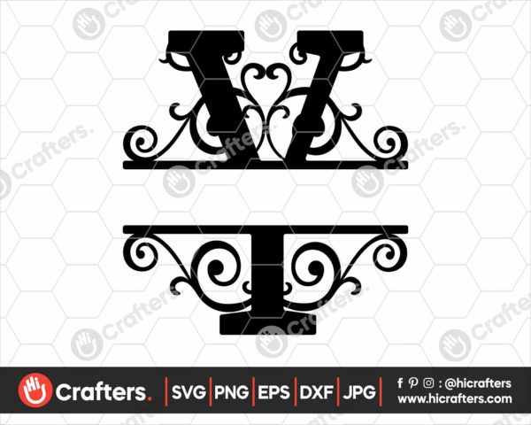 025 Split Monogram SVG Y Split letter Y SVG