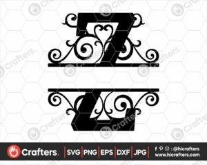 026 Split Monogram SVG Z Split letter Z SVG