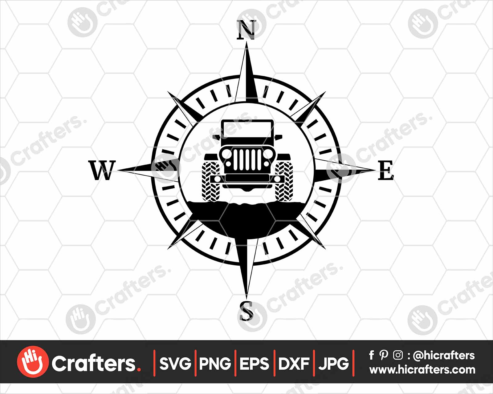 Jeep Life Svg Jeep With Compass Svg Hi Crafters