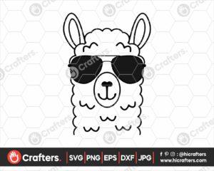 030 Llama with Sunglasses SVG