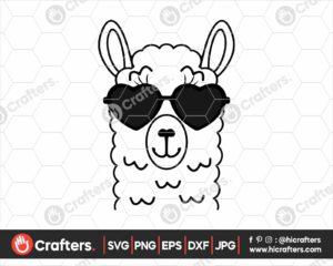 031 Llama with Sunglasses SVG Files