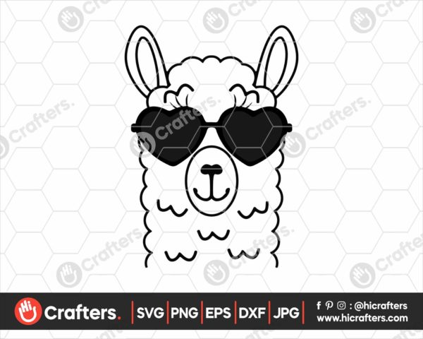 031 Llama with Sunglasses SVG Files