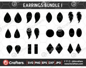 045 Earrings SVG Bundle I Leather Earrings SVG Files