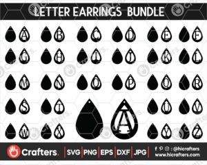 048 faux leather earring svg