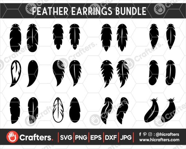 049 feather earring svg