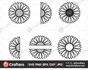 052 Sunflower Monogram SVG