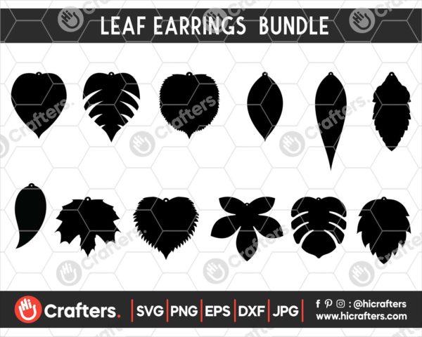 053 leaf earring svg