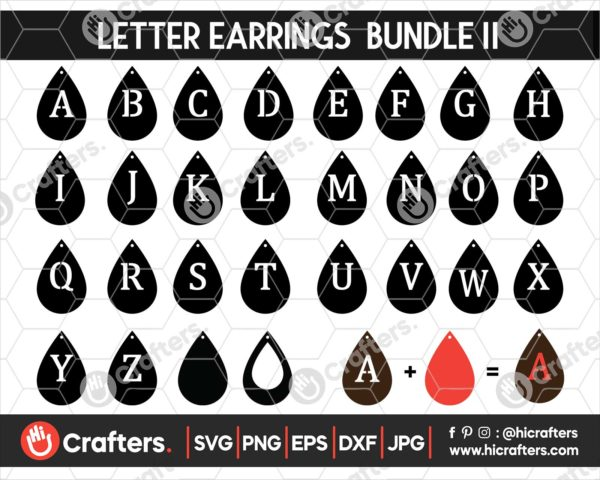 054 faux leather earring svg