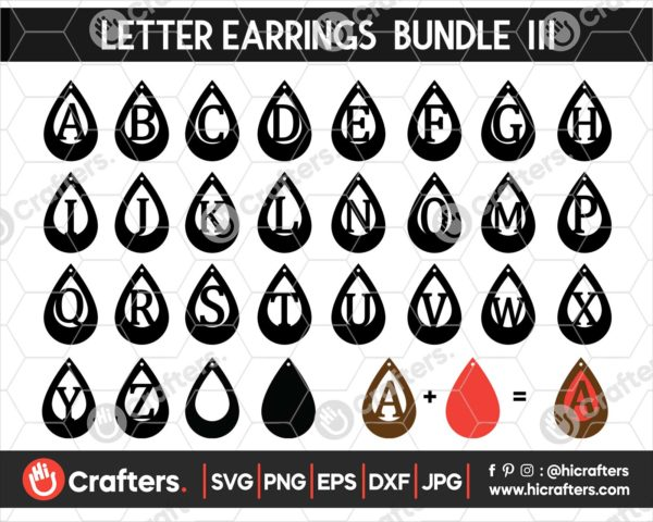 055 faux leather earring svg