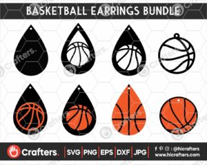 056 Basketball earring svg