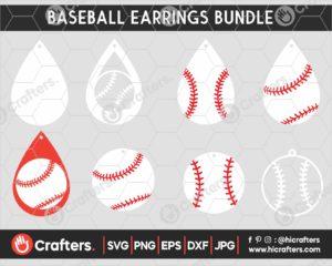 057 Baseball earring svg