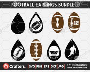 058 football earring svg