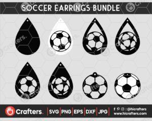 059 Soccer earring svg