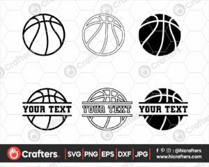 062 Basketball SVG Split Basketball SVG
