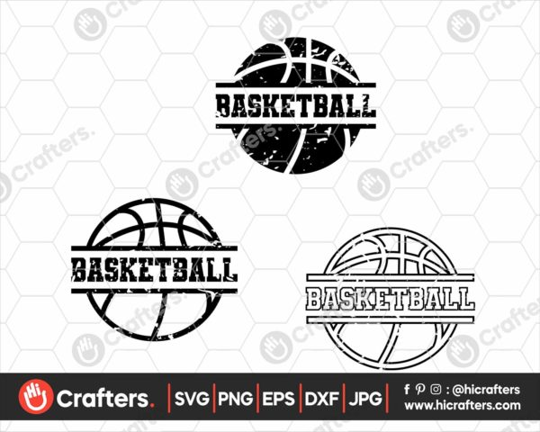 064 Distressed Basketball SVG Grunge Basketball SVG