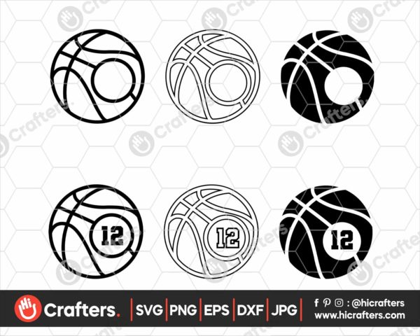 065 Basketball Monogram SVG Cut Files