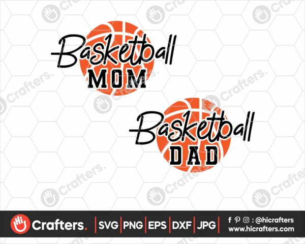 076 Basketball Mom SVG Basketball Dad SVG