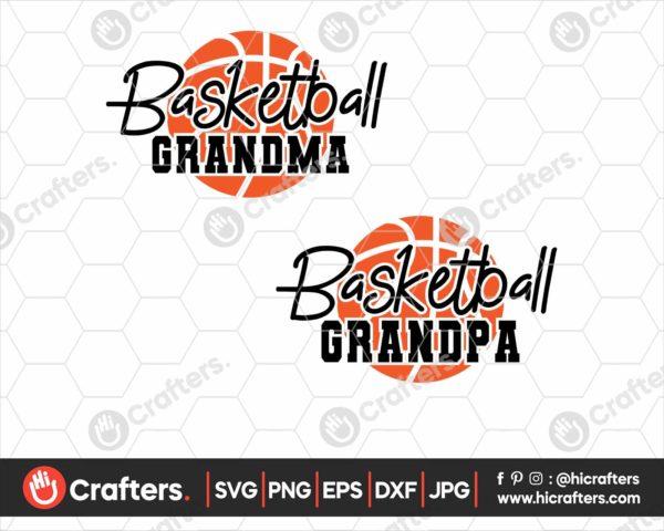 077 Basketball Grandma SVG Basketball Grandpa SVG