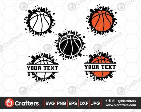 078 Grunge Basketball SVG Distressed Basketball SVG
