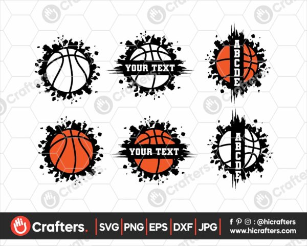 079 Split Basketball SVG Basketball SVG