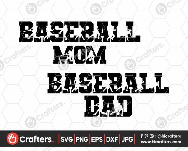 082 Baseball Mom SVG Baseball Dad SVG
