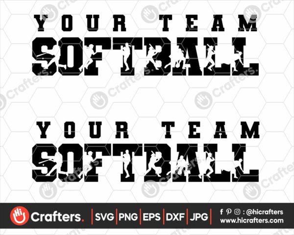 086 Softball SVG Softball Team SVG