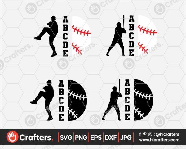 091 Baseball Player SVG Baseball Player Silhouette SVG