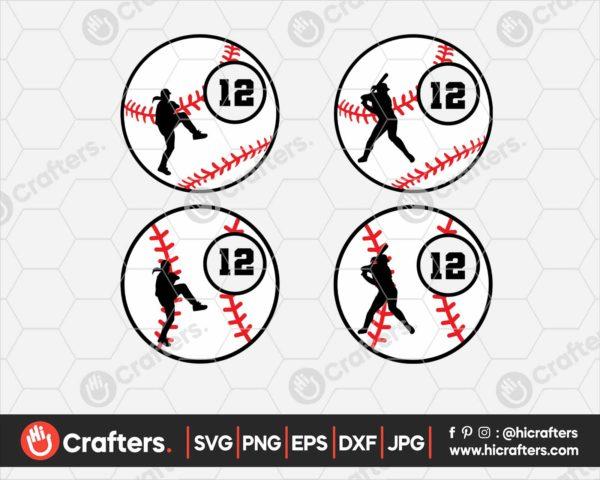 094 softball monogram svg