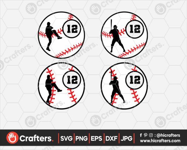 095 baseball monogram svg