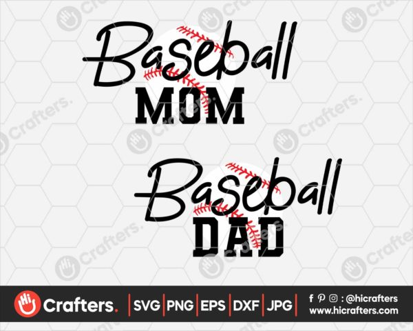 097 baseball dad svg baseball mom svg