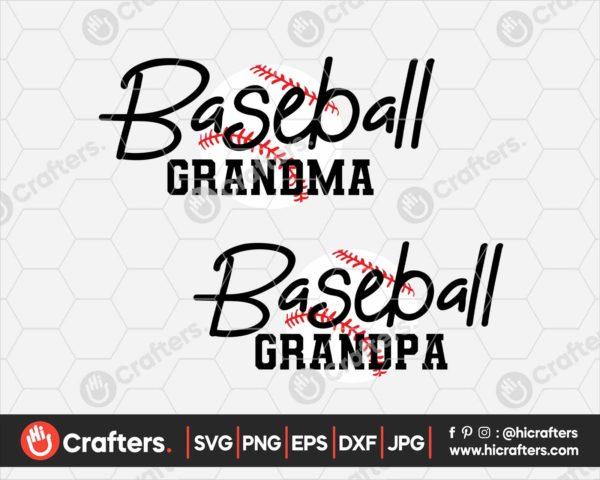 098 Baseball Grandma SVG Baseball Grandpa SVG