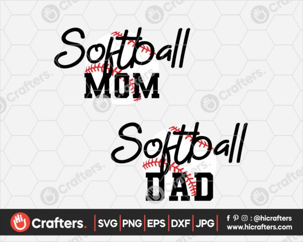 099 Softball dad svg softball mom svg