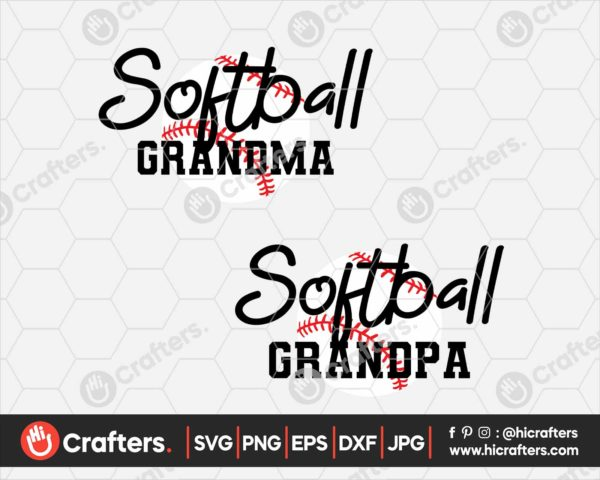 100 Softball Grandma SVG Softball Grandpa SVG