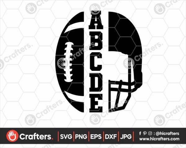 104 Footbal svg football helmet svg