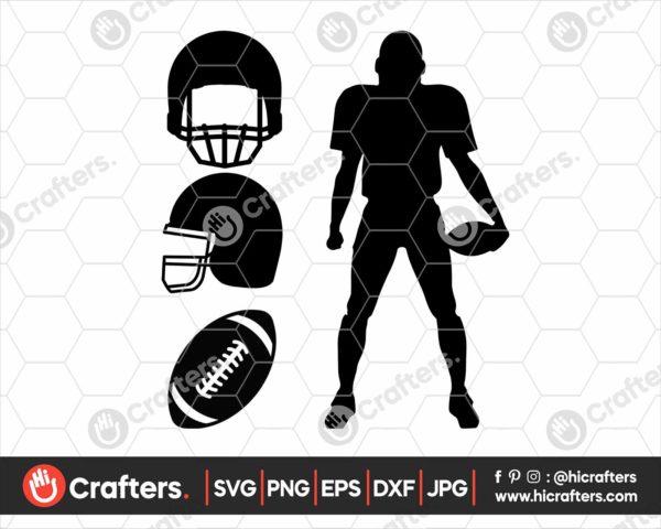 108 Football SVG Football Player SVG Football Helmet SVG