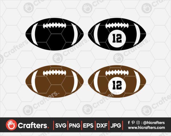 113 Football Monogram SVG