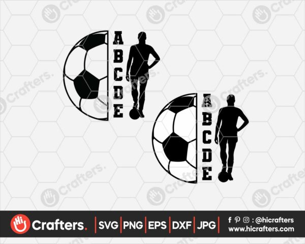119 Split Soccer Ball SVG Soccer Mom SVG