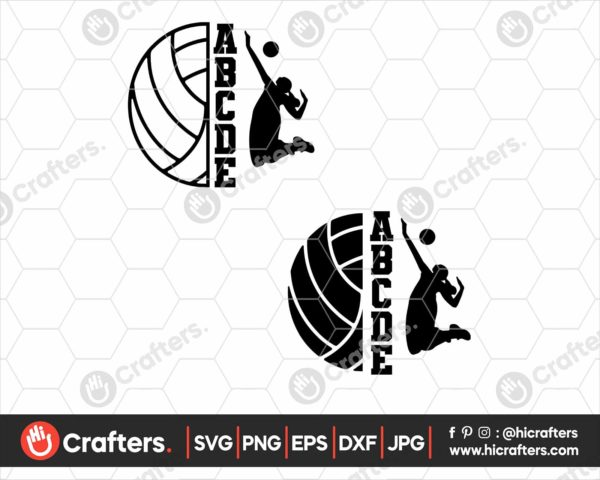 126 half Volleyball svg