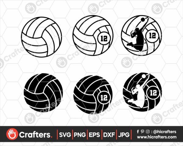 130 volleyball Monogram svg girls