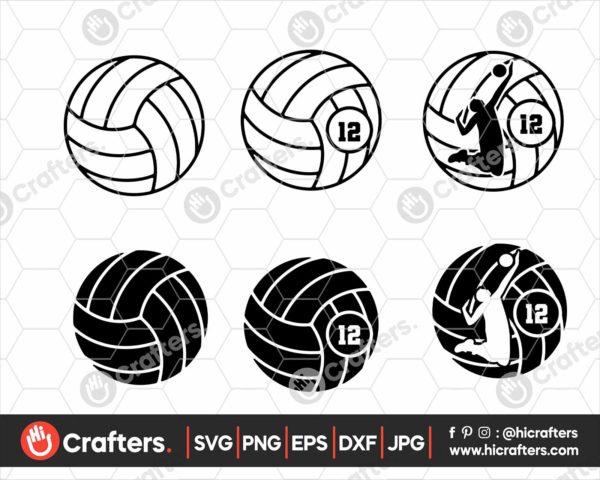 131 volleyball Monogram svg boys