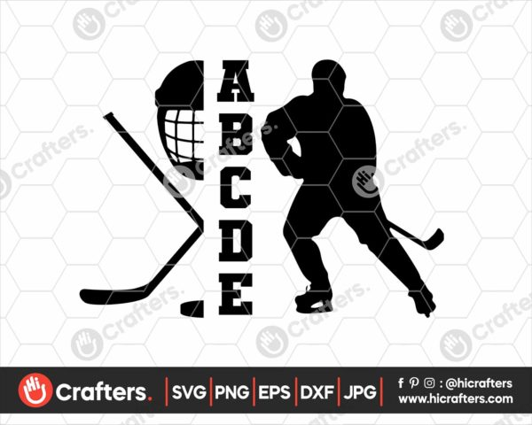 136 Hockey Player SVG